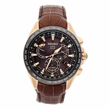 Seiko Astron GPS Solar LE Quartz Gold Plated Steel Ceramic Mens Watch SSE060