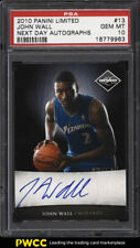 2010 Panini Limited Next Day John Wall ROOKIE RC AUTO 1/99 #13 PSA 10 GEM (PWCC)