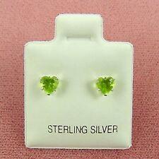 Sterling Silver 4mm Heart CZ Stud Earrings