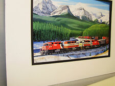 Canadian Pacific Fast Freight in Alberta Canada  Artist Railroad Archives bt