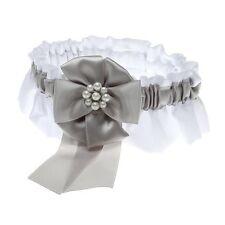 Silver Bridal Garters