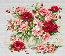 Counted Cross Stitch kit Luca-S Peonies #B2288
