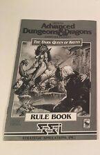 Vintage 1992 SSI Advanced Dungeons & Dragons Rule Books - Dark Queen of Krynn