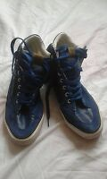MENS CROSSHATCH BLUE TRAINERS SIZE 9