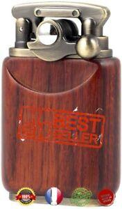 Briquet à essence avec bras à bascule, en bois de palissandre