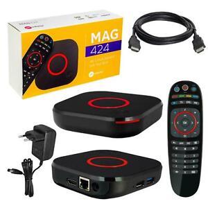 Mag 424 IPTV Récepteur Set Top Box 4k milmeit HEVC h.265 Infomir Multimedia Play