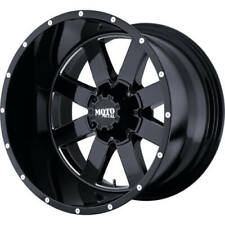 4 - 18x9 Black Moto Metal MO962 Rim 8x6.5 (8x165.1) +0 Offset MO96289080300