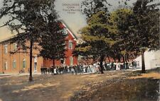 Oskaloosa Iowa~Crowd At The Yearly Meeting House~1910 Postcard