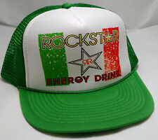 ROCKSTAR ENERGY DRINK trucker snapback hat cap adjustable mexico flag green