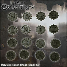 LAST STAND CONVERTIBLES BITS COUNTERS - CHESS BLACK TOKENS (16)