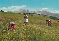 "*Foreign Postcard-""Ladies Picking Flowers In Country-Side""  (U2-460)"