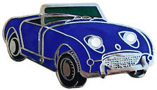Austin Healey Sprite MkI (Bugeye) car cut out lapel pin - Dark Blue