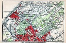 Antique map The Hague / landkaart Den Haag Scheveningen 1901