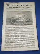 1832 The Penny Magazine - Naples, Dunbarton Castle