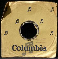 Pochette 78 trs / 78 RPM avec tampon Georges Le Loge, Aumont (Lozère) TBE