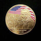 United States President Abraham Lincoln Souvenir Gold Plated Commemorative Coin