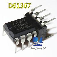 10PCS IC DS1307 DS1307N DIP8 RTC SERIAL 512K I2C Real-Time Clock NEW