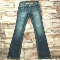 "ana Womens Jeans size 10 Tall Long x37""inseam new Dark Wash Slim Bootcut Stretch"