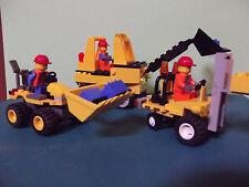 Lego-- Baustellenfahrzeuge--Mit Arbeitern-Stapler-Raupe--3 Stück--Konvolut-Gelb