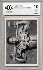 1990 Score Football/Baseball Bo Jackson Graded BCCG 10
