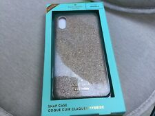 Kate Spade soft gold glitter snap case iPhone X RRP $55