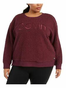 Calvin Klein Performance Plus Size 3X Embroidered Sherpa Sweatshirt # 6C 1401 N