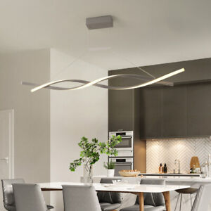 LED Dimming Chandelier Dining Room Ceiling Light Acrylic Pendant Lamp Fixtures