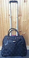 Women's Isabella Fiore Signature Black Carry On Lugagge Pull Handle Rolling Bag