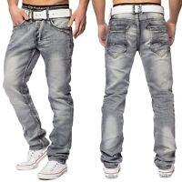 Jeans Vintage homme affligé jeans lavis gris Stretch Fit Regular