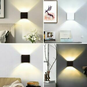 Modern COB LED Wall Light Up Down Cube Indoor Outdoor Sconce Lighting Lamp Home
