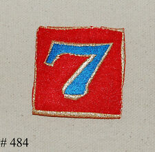 1Pc~Lucky Number 7~Iron On Embroidered Applique