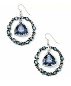 NEW Brighton DIVINE FEMININE Blue Crystal French Wire Earrings NWT
