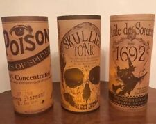 Bethany Lowe Vintage Silhouette Apothecary Luminaries—Candles Included-retired
