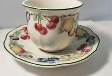 VILLEROY & BOCH Melina CUP AND SAUCER Fruit Garland Trim