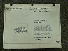 1993 1994 1995 Land Rover Defender 90 110 Parts Catalog Manual March 1996