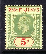 FIJI 1922-27 5/- GREEN & RED SG 241 MNH.
