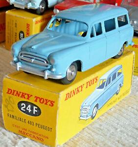 Très belle Vrai Dinky toys France Meccano Peugeot 403 break 24F + boite origine