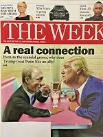 THE WEEK MAGAZINE July 21 2017 DONALD TRUMP WAR WITH MEDIA Treat Putin Like Ally