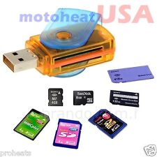 MINI Super Speed USB 2.0 Micro SD/SDXC TF Card Reader Adapter Mac OS Pro Windows