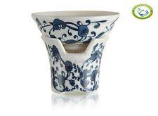 Top Porcelain JinDeZhen Ganoderma Mesh Strainer & Stand for Gongfu Tea