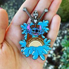 Jack Skellington And Stitch On Splash Mountain Disney Fantasy Pin