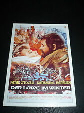 THE LION IN WINTER, film card [Peter O'Toole, Katharine Hepburn, Nigel Terry]