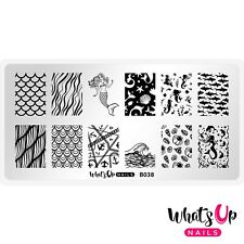 B038 Lost at Sea Stamping Plate For Stamped Nail Art Design