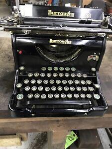 Vintage Burroughs Manual Typewriter Working 1930's portable