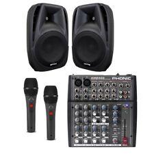 IMPIANTO KARAOKE 804 mixer con effetti+ diffusori attivi gemini es8p + microfoni