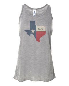 TEXAS IS HOME, LONE STAR STATE, RACERBACK, Sublimation, Women's TANK TOP