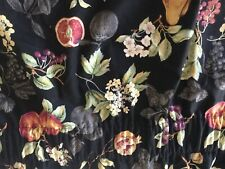 OUNTRY CURTAINS 2 PC JABOT SWAG CURTAIN,BLACK W/ FRUIT