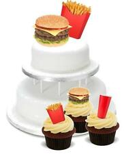 NOVELTY Fast Food Mix PACK 2 Large 12 Cupcake STAND UP Cake Toppers Birthday