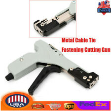 New listing Heavy Duty Metal Cable Zip Tie Gun Lightweight Durable Fastening Cutting Tool Us