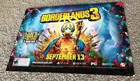 "Borderlands 3 Promo Promotional Poster 18"" x 26"" RARE HTF"